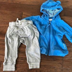 Hanna Anderson joggerpants and sweatshirt